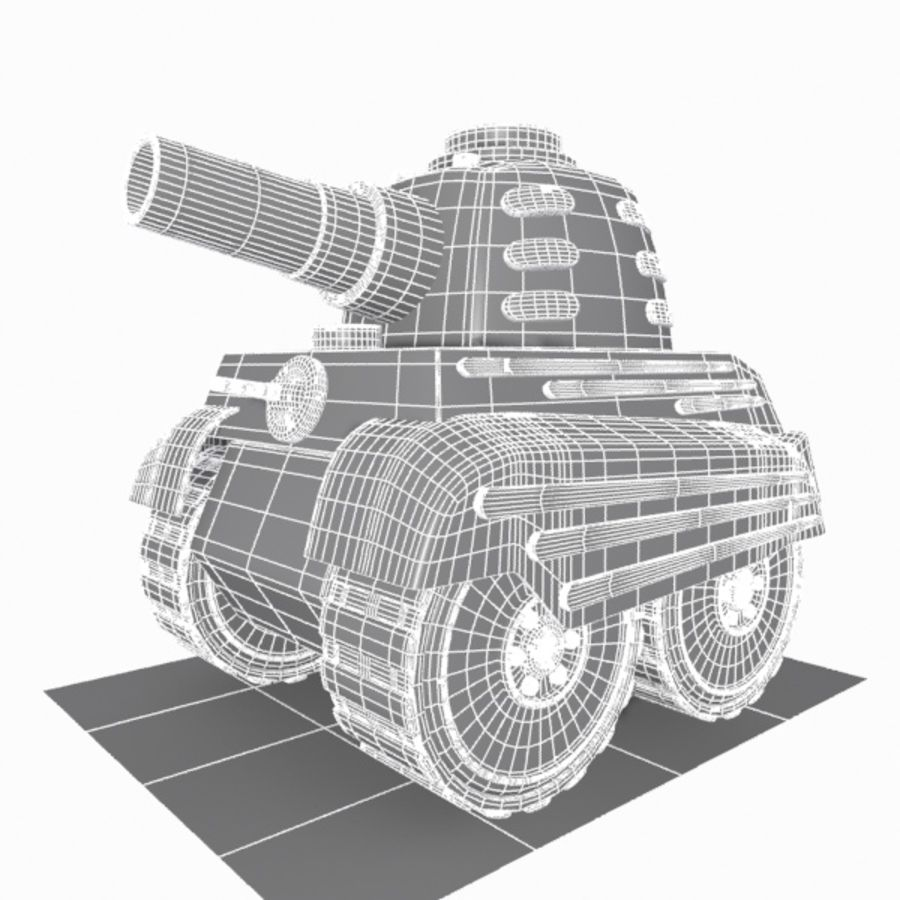Toon Tank royalty-free 3d model - Preview no. 15