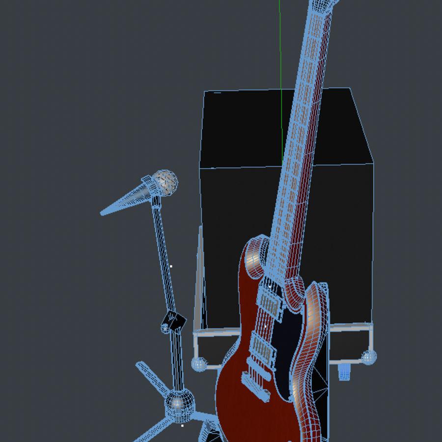 Гитара и усилитель royalty-free 3d model - Preview no. 6