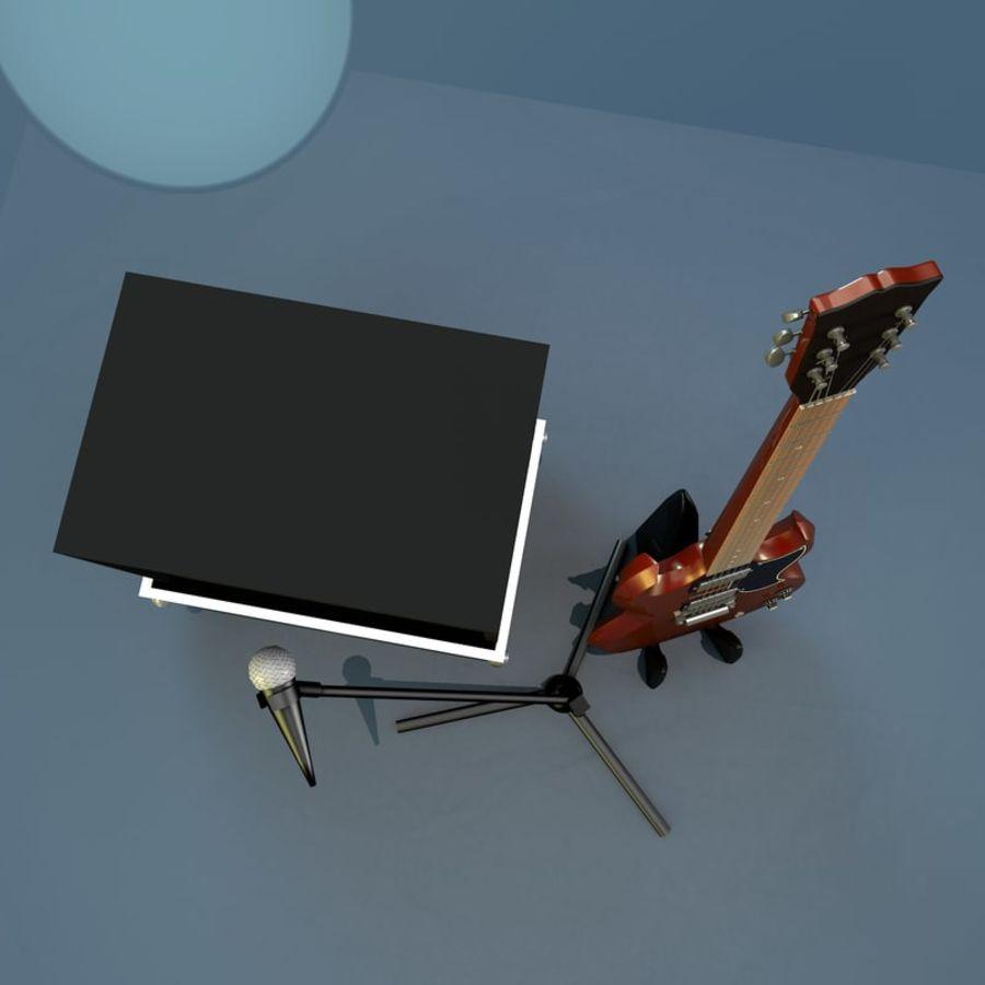 Гитара и усилитель royalty-free 3d model - Preview no. 4