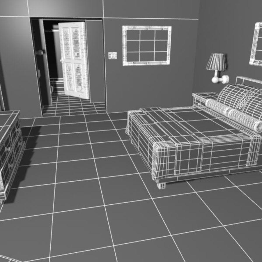 Çizgi Film Otel Odası royalty-free 3d model - Preview no. 11