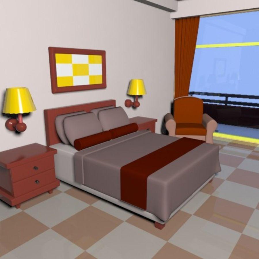 Çizgi Film Otel Odası royalty-free 3d model - Preview no. 8