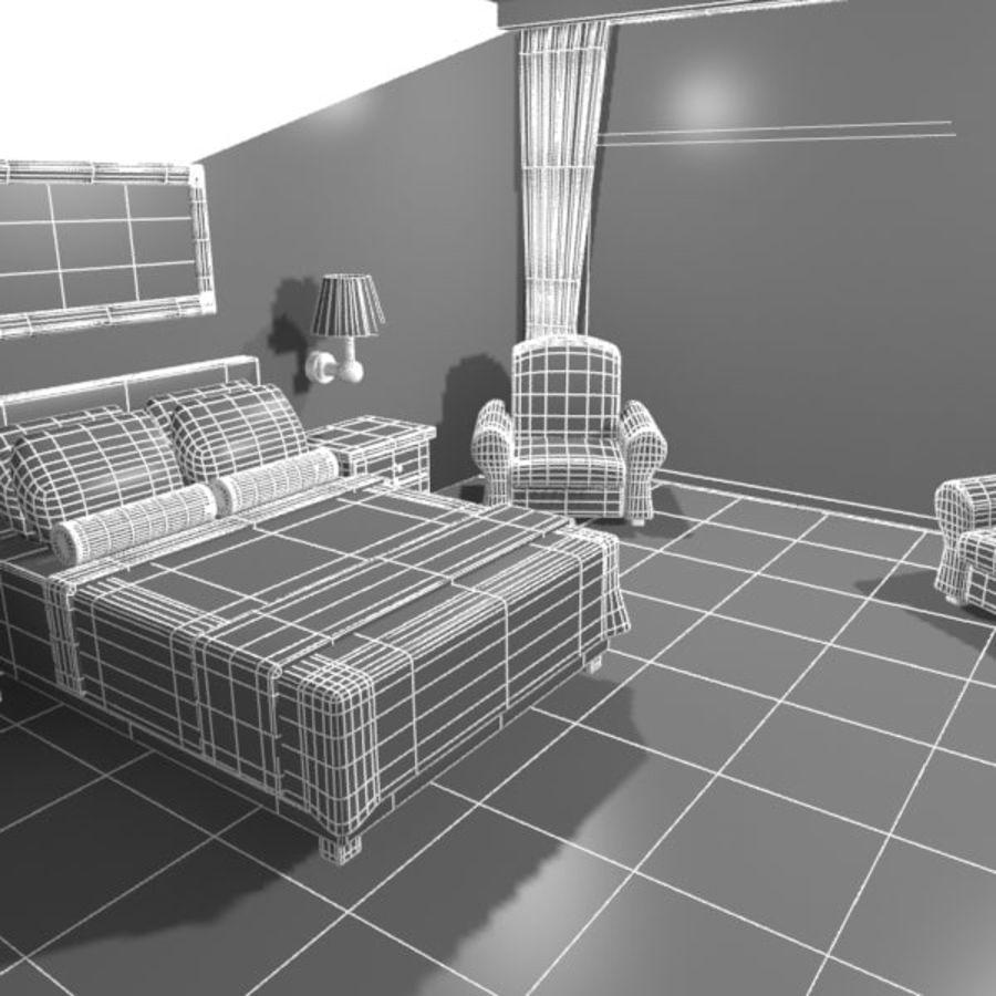Çizgi Film Otel Odası royalty-free 3d model - Preview no. 14