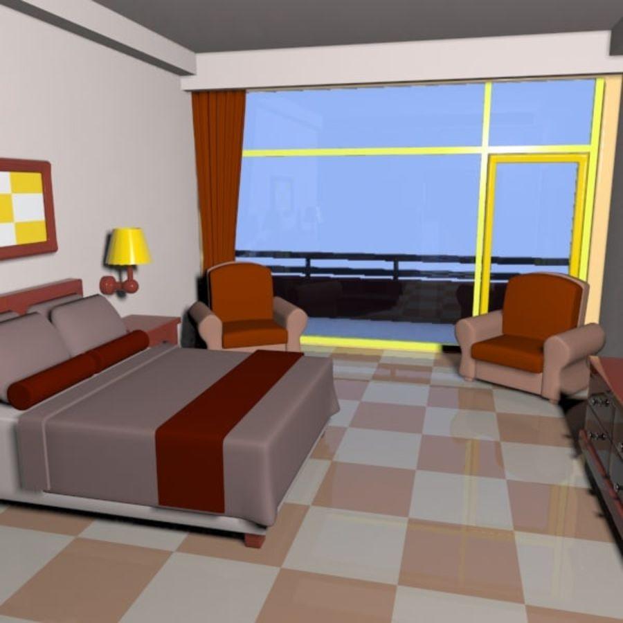 Çizgi Film Otel Odası royalty-free 3d model - Preview no. 6