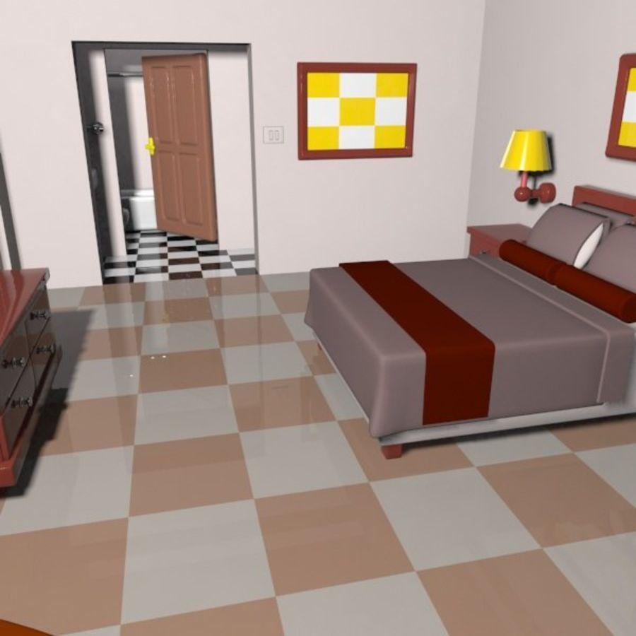 Çizgi Film Otel Odası royalty-free 3d model - Preview no. 10