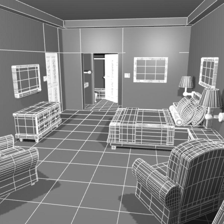 Çizgi Film Otel Odası royalty-free 3d model - Preview no. 16