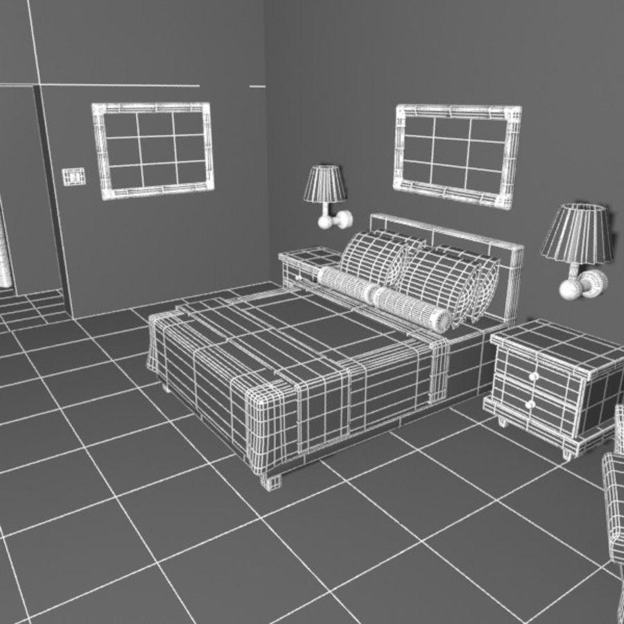 Çizgi Film Otel Odası royalty-free 3d model - Preview no. 12