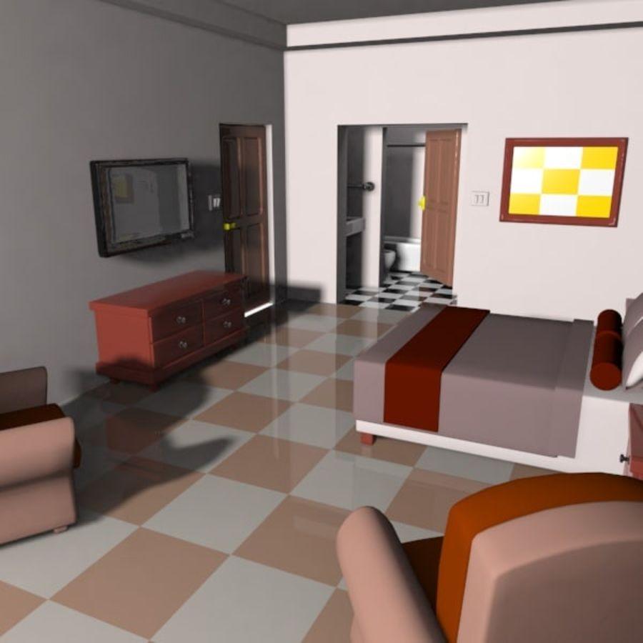 Çizgi Film Otel Odası royalty-free 3d model - Preview no. 5