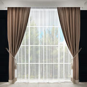 Curtain with fringe 3d model