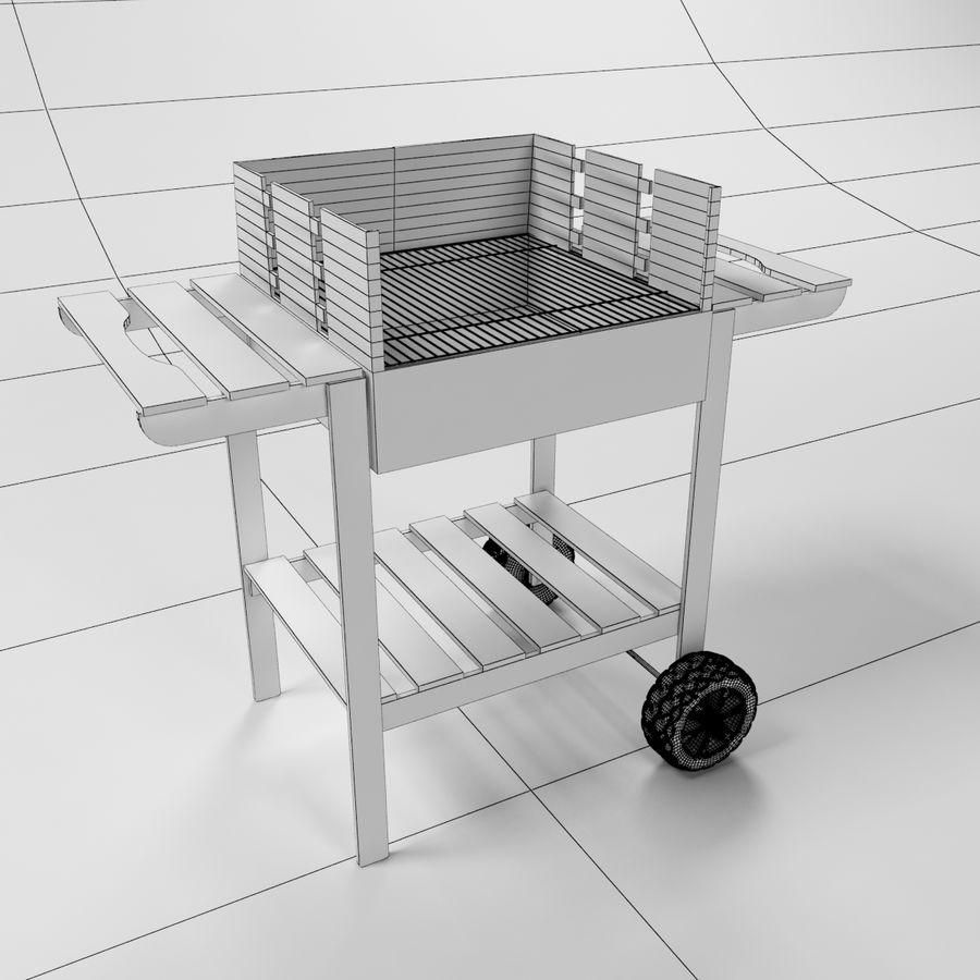 木製バーベキューグリル royalty-free 3d model - Preview no. 5