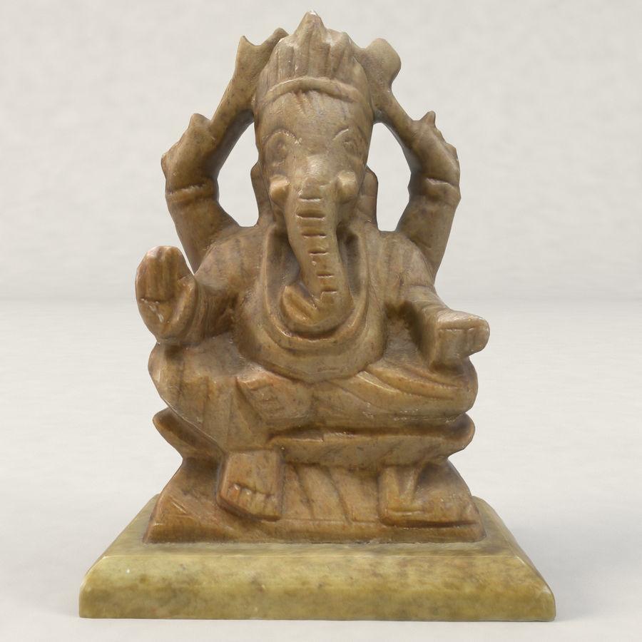 God Ganesha figuur royalty-free 3d model - Preview no. 7