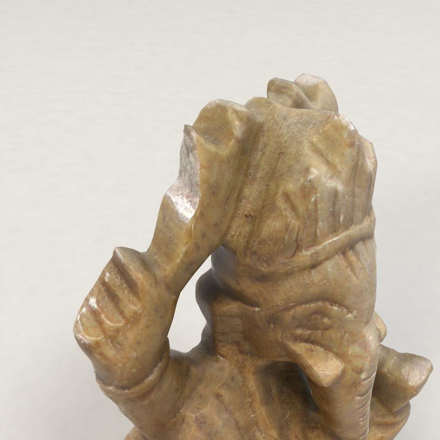 God Ganesha figuur royalty-free 3d model - Preview no. 10