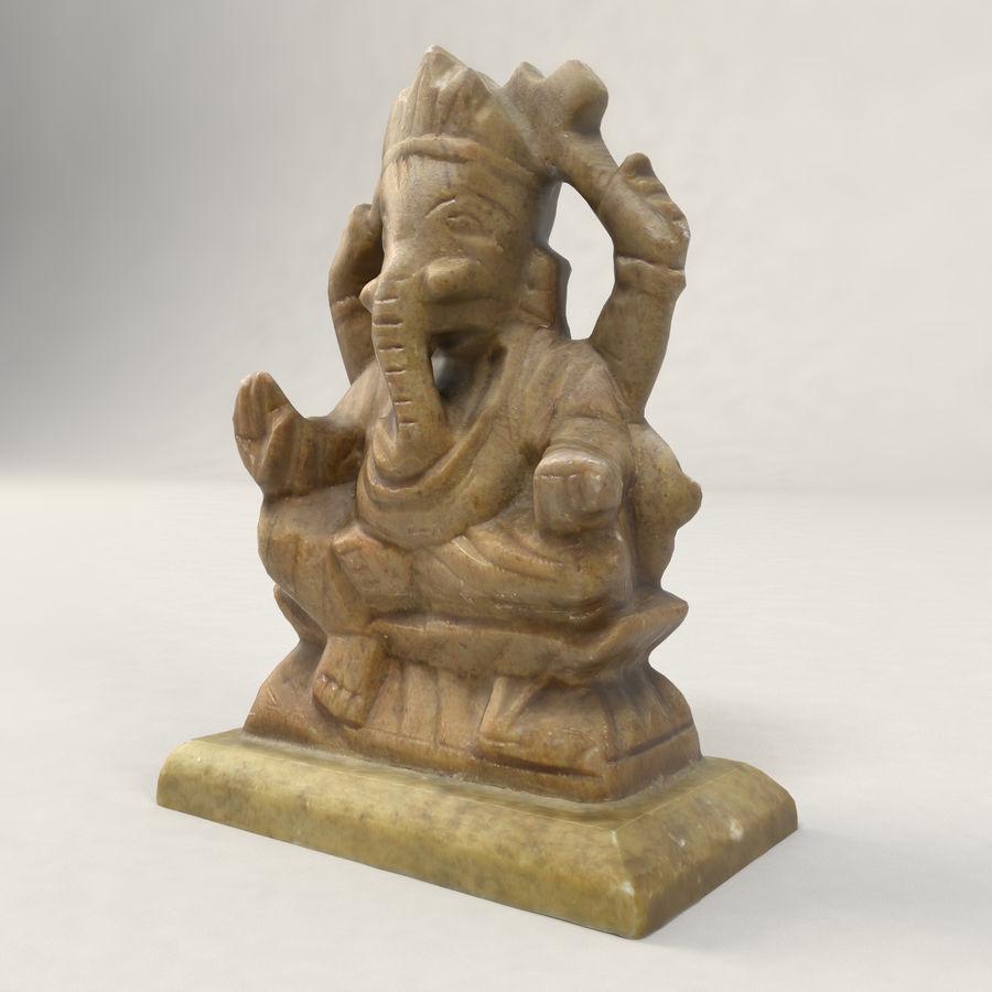 God Ganesha figuur royalty-free 3d model - Preview no. 8