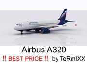 Airbus A320 Aeroflot modelo 3d