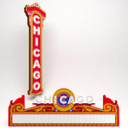 Chicago Theatre Entrance 3d model