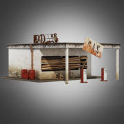 Old gas station 3d model