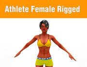 Athlete Female 3d model