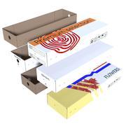 Caja de cartón modelo 3d