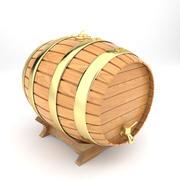 Tonneau à vin en bois 3d model