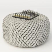 Huttners Big Knot pouf 3d model
