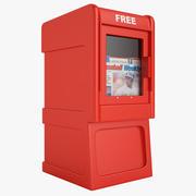 無料新聞ボックス01 3d model