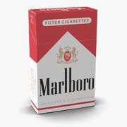 Closed Cigarettes Pack Marlboro 3d model