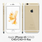 iPhone 6S Dourado C4D 3d model