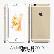 iPhone 6S Gold FBX OBJ 3d model