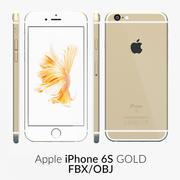 iPhone 6S Gold FBX OBJ modelo 3d