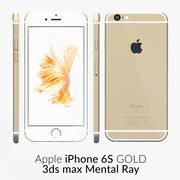 Rayo mental dorado del iPhone 6S modelo 3d