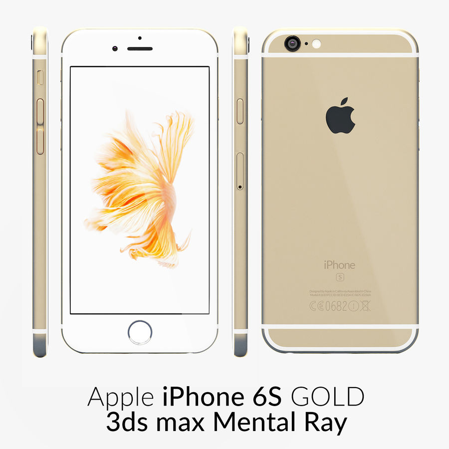 iPhone 6S Gold Mental Ray royalty-free 3d model - Preview no. 1