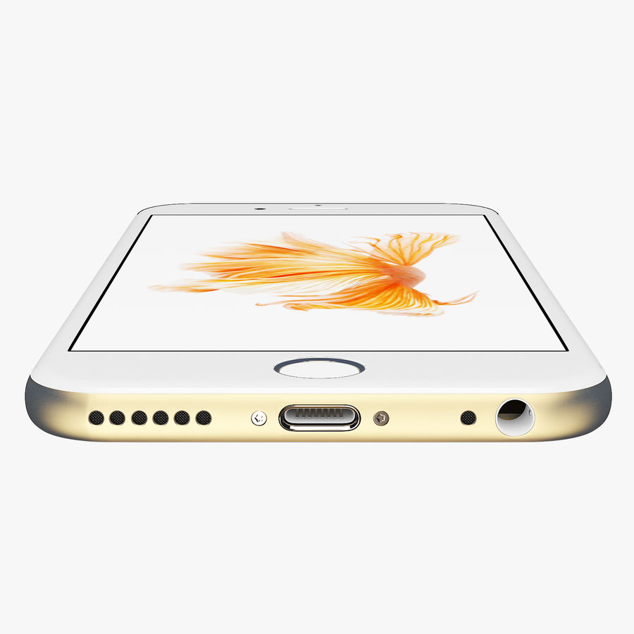 iPhone 6S Gold Mental Ray royalty-free 3d model - Preview no. 6