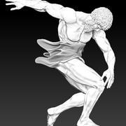 discobolusローマ人像 3d model