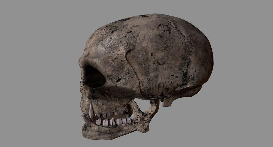 HellWarrior Skull royalty-free 3d model - Preview no. 9