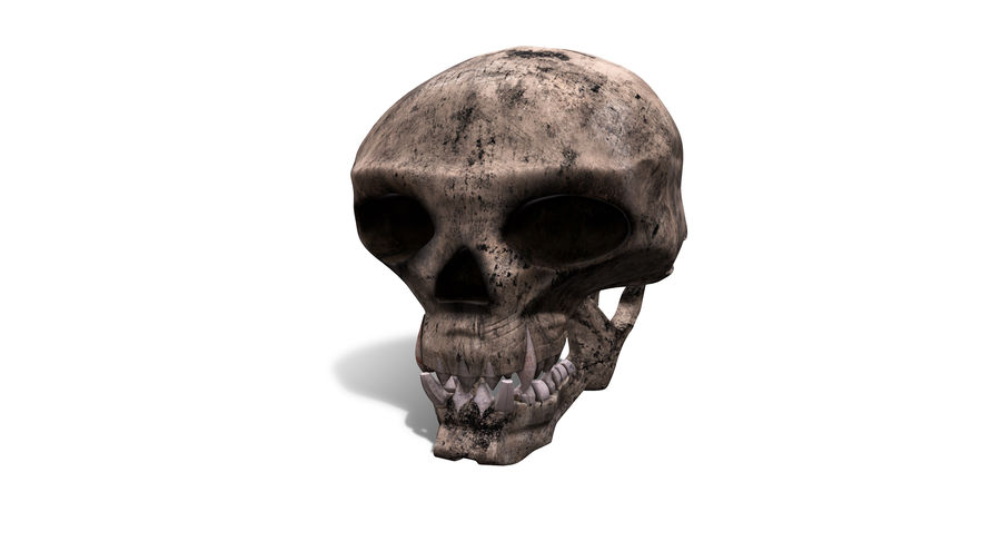 HellWarrior Skull royalty-free 3d model - Preview no. 7