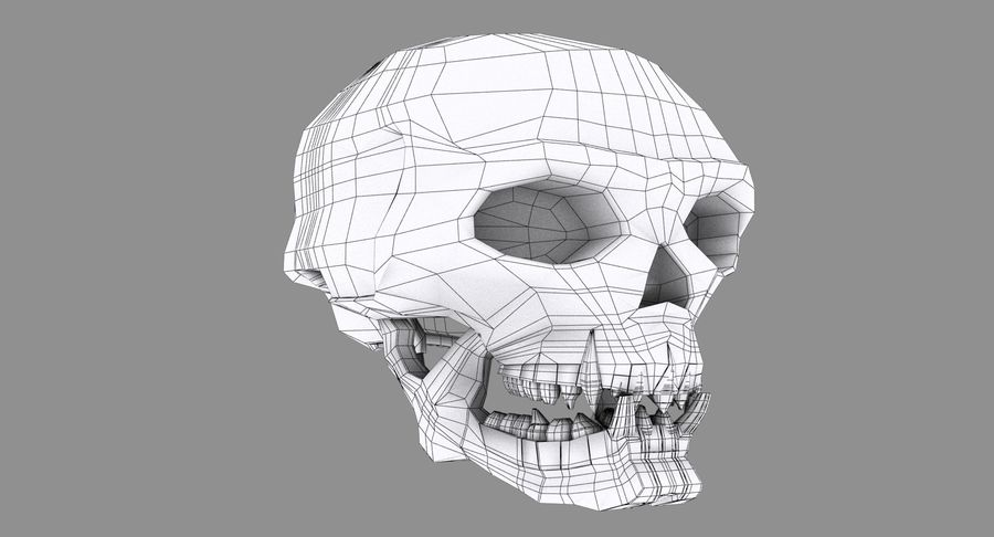 HellWarrior Skull royalty-free 3d model - Preview no. 11