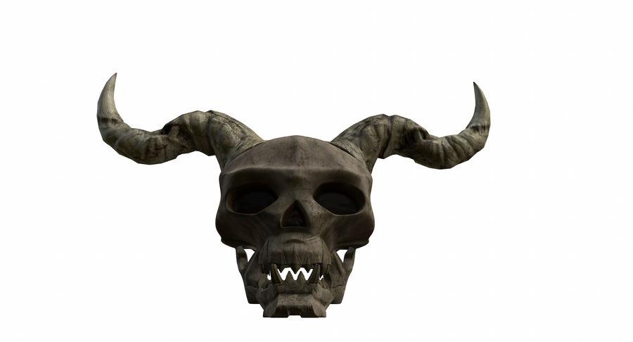 HellWarrior Skull royalty-free 3d model - Preview no. 3