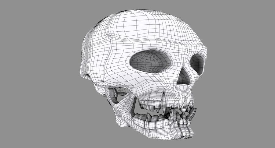 HellWarrior Skull royalty-free 3d model - Preview no. 12