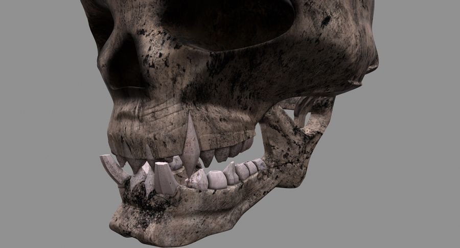 HellWarrior Skull royalty-free 3d model - Preview no. 10