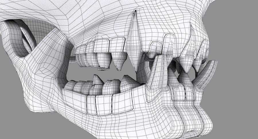 HellWarrior Skull royalty-free 3d model - Preview no. 16