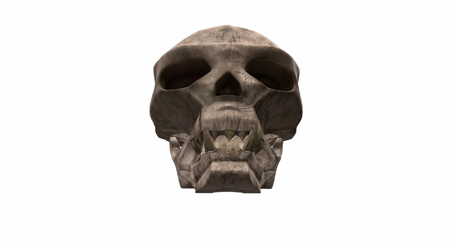 HellWarrior Skull royalty-free 3d model - Preview no. 8