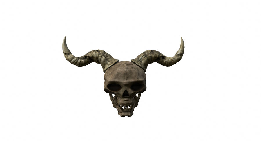 HellWarrior Skull royalty-free 3d model - Preview no. 4