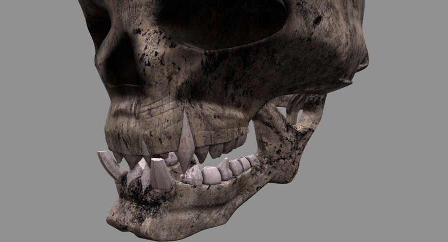 HellWarrior Skull royalty-free 3d model - Preview no. 10