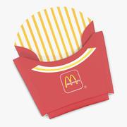 Folded French Fry Box McDonalds 3D Model 3d model