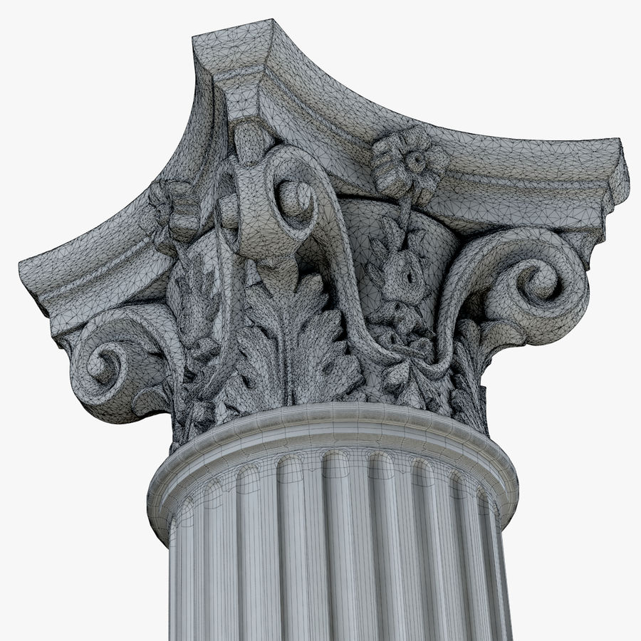 Column 1 royalty-free 3d model - Preview no. 10