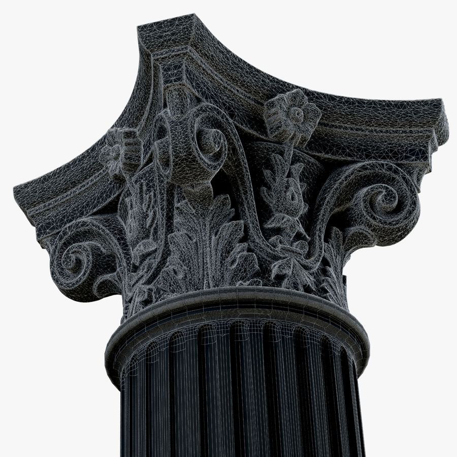 Column 1 royalty-free 3d model - Preview no. 15