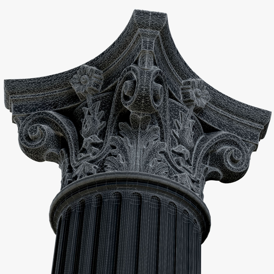 Column 1 royalty-free 3d model - Preview no. 14