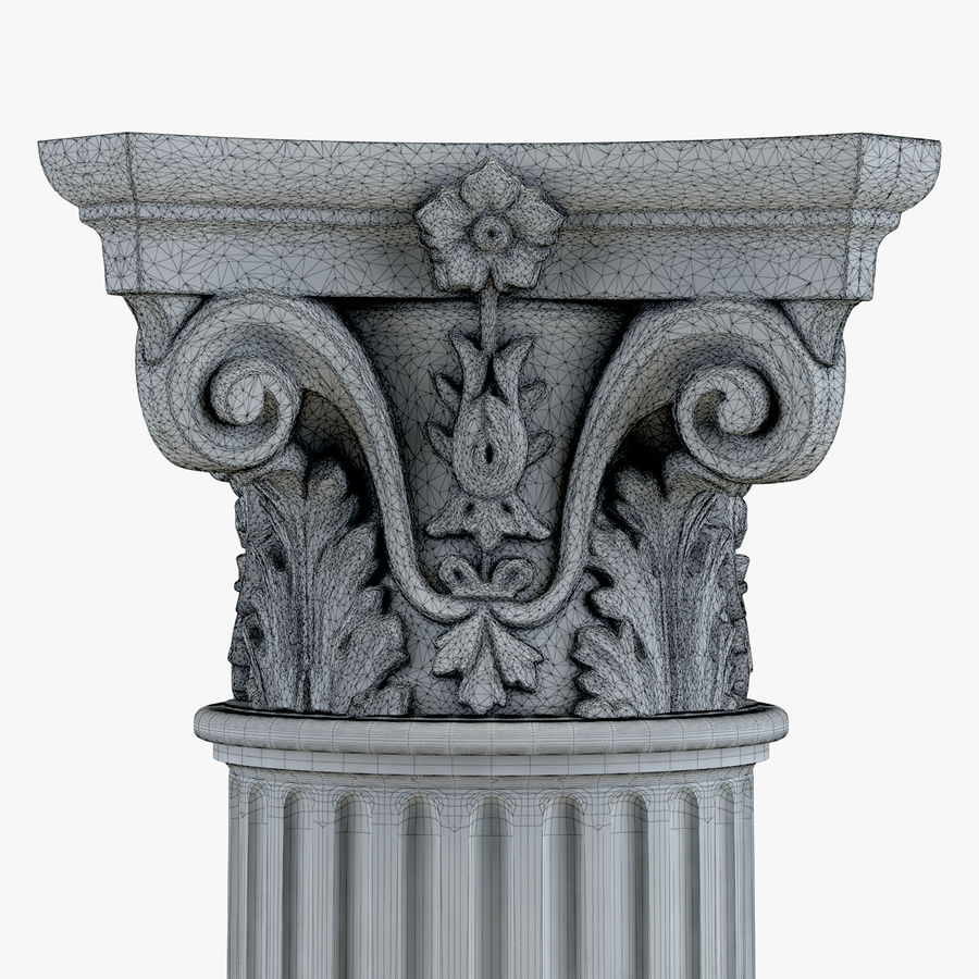 Column 1 royalty-free 3d model - Preview no. 8