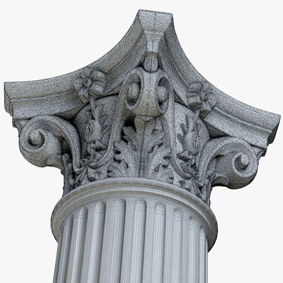 Column 1 royalty-free 3d model - Preview no. 9