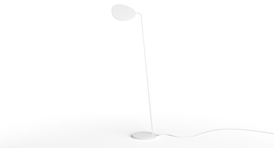 Muuto Leaf Table e luminárias de pé royalty-free 3d model - Preview no. 14
