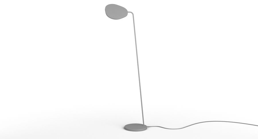 Muuto Leaf Table e luminárias de pé royalty-free 3d model - Preview no. 12